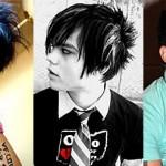 Ironic 80′s emo hair!