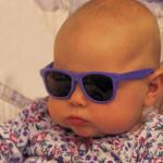 Babies wearing sunglasses!