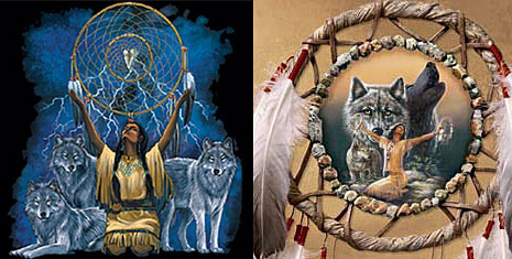 dreamcatcher wolf art