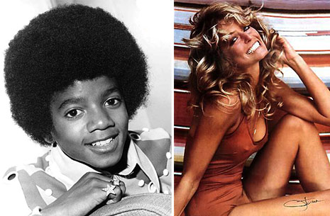 Michael Jackson and Farrah Fawcett