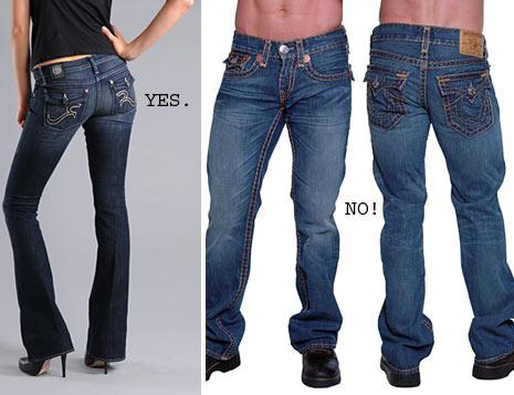 mens jeans pocket flaps