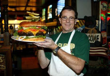 giant cheeseburger