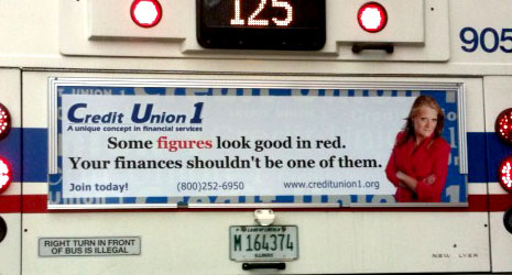 credit union 1 bus ad