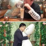 Men who marry pillows!