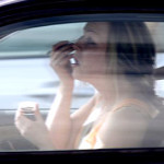 "Women who put on makeup while driving! Oh, and also Dunkin' Donuts ""Today's Special"" doughnut!"