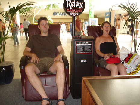Massage chair at the mall