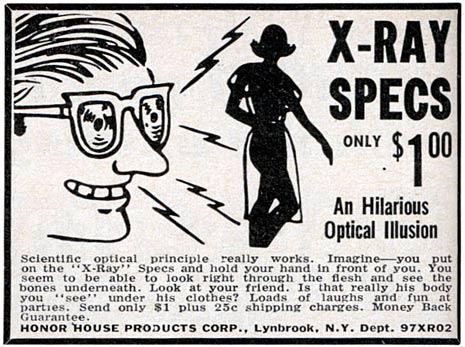 x-ray specs xray goggles glasses spex