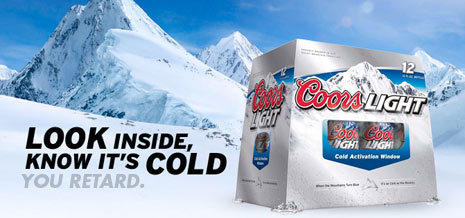coors light cold activated window