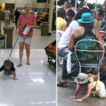Parents who leash their kids!
