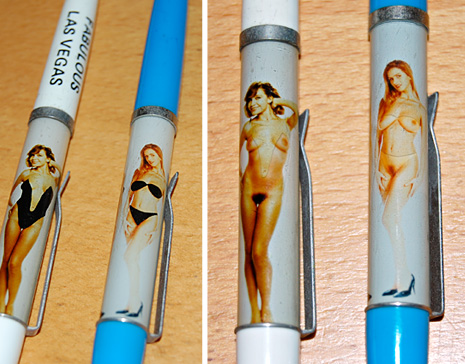 naked lady disappearing clothes nudie pens