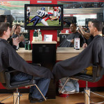 Mens sports-themed barbershops!