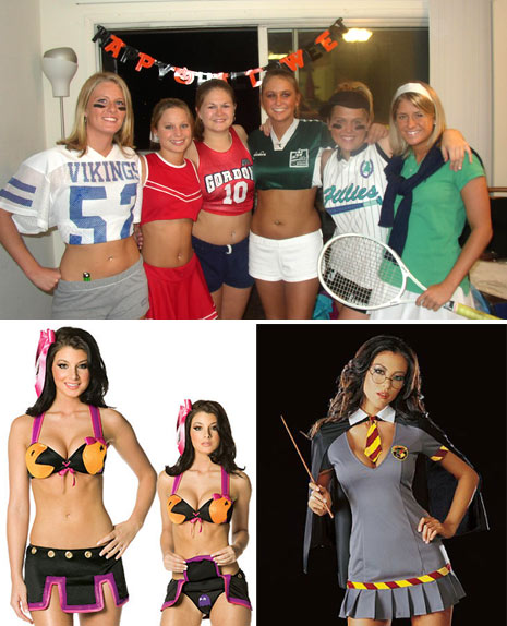 stupid hot sexy halloween costumes, sluts, whores