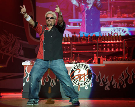 guy fieri live fod frenzy douchebag
