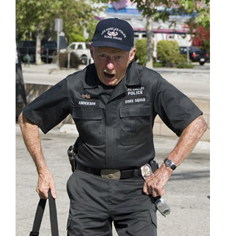 old man elderly security guard