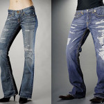 Brand new ripped blue jeans!