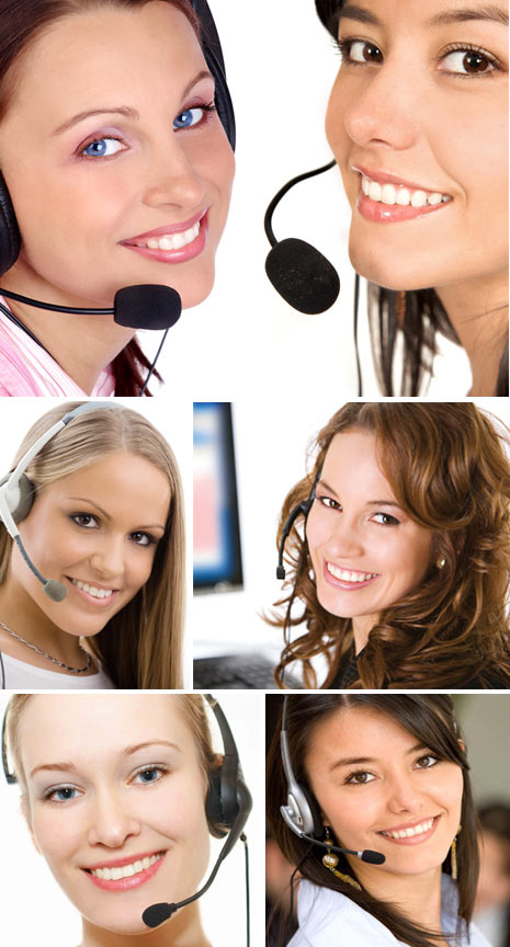 customer service stock photo women