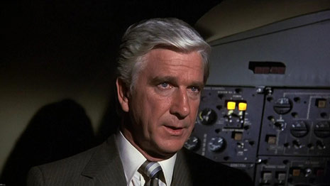 leslie neilsen airplane, naked gun