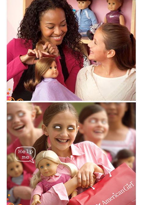 american girl store - tea party