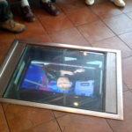 In-floor TVs!